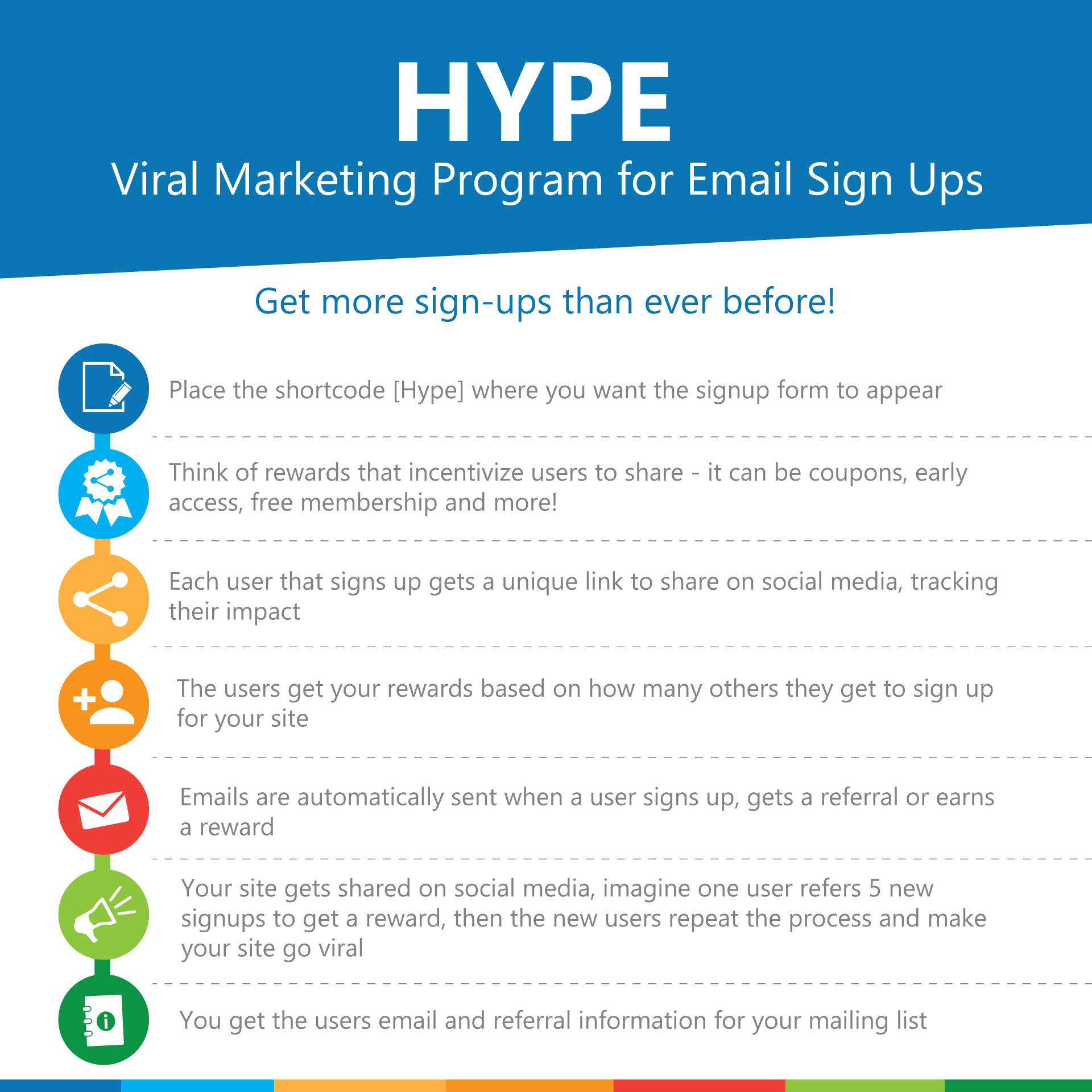 HYPE - Viral Marketing Program for Email Sign Ups - 2